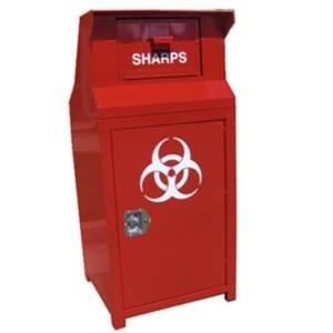 Drop Box for Sharps (Needles)