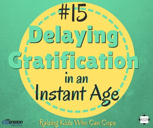 Delaying Gratification in an Instant Age. Episode #15 - Raising Kids Who Can Cope