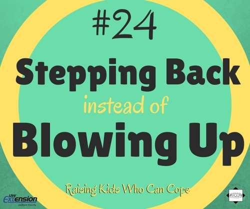 Stepping Back instead of Blowing Up. Episode #24 - Raising Kids Who Can Cope