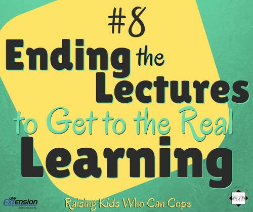 Ending the Lectures to Get to the Real Learning. Episode #8 - Raising Kids Who Can Cope